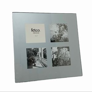 FETCO PICTURE FRAME Multiple openings Glass Silver